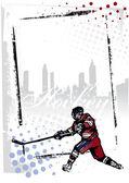 Ice hockey poster — Stock Vector