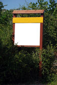 Blank sign with a copy space area — Stock Photo