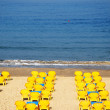 Yellow Chairs by the sea — Stock Photo