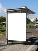 White Bus stop Sign — Stock Photo