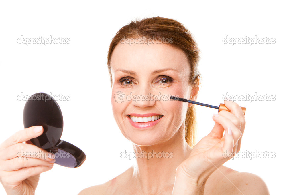 Woman Applying Her Mascara Makeup  — Stock Photo #4213436