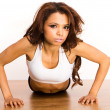 Young fitness woman — Stock Photo