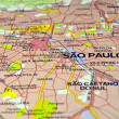 Brazil map, Sao Paulo. — Stock Photo