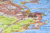Rio de Janeiro map. — Stock Photo