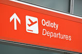 Airport departure sign. — Foto de Stock