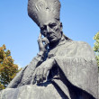 Cardinal Wyszynski statue. — Stock Photo