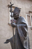 Pope statue, Krakow. — Stock Photo