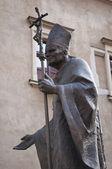 Pope statue, Krakow. — Stock Photo