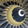Stock Photo: Jet engine detail.
