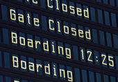 Airport information board. — Stock Photo