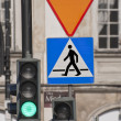 Stock Photo: Green traffic light.