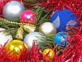 Colorful Christmas balls. — Stock Photo