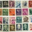 Postage stamps with a president of USA and political figures. — Stock Photo