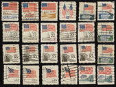 Postage stamps with the USA State Flag. — Stockfoto