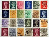 Queen Elizabeth.Postage stamps. — Stock Photo