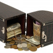 Royalty-Free Stock Photo: The box with the money.