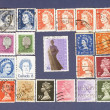 Queen  Elizabeth.Postage stamps. - Stock Photo