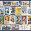 Set of different USA postage stamps. — 图库照片