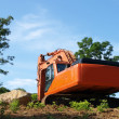 Dredge on a hillside. — Stock Photo