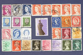 Queen Elizabeth.Postage stamps. — Stock Photo