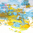 Broken pastel particles and paint — Foto Stock