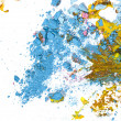 Broken pastel particles and paint — Stock Photo