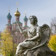 Stock Photo: Moscow, New maiden monastery,angel