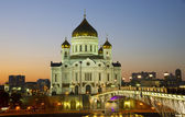 Night kind of a temple of the Christ of the Savior — Stock Photo