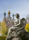 Moscow, the New maiden monastery,angel — Stock Photo