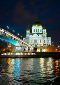 Night kind of a temple of the Christ of the Savior (2) — Stock Photo