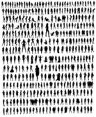 Woman silhouettes — Stock Photo
