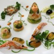 Stock Photo: Cold appetizer of seafood with vegetables