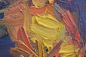 多彩笔触布面油画 — 图库照片