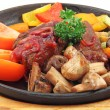 Stock Photo: Stew with vegetables and mushrooms