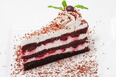 Cake with cherry and chocolate — Stock Photo