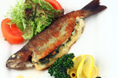 Fried stuffed fish — Stock Photo