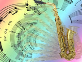 Sax and music! — Stock Photo