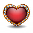 Red heart — Stockvector #4630327