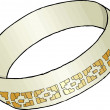 Stock Photo: Inlayed Dark Gold Bracelet or Ring