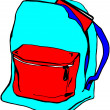 Foto Stock: Book Bag and Lunch Box