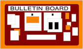 Bulletin Board — Stock Photo