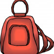 Purple Schoo or Work Backpack - Stock Photo