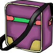 Purple Purse or lunchbox and an Adjustable Strap — Stock Photo