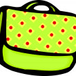 Light Green Purse with Handle — Stock Photo