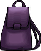 Purple Schoo or Work Backpack — Stock Photo