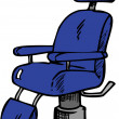 Stock Photo: Dark blue Vintage Barber Chair