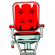 Stock Photo: Barber Chair Red