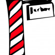Stock Photo: Barber Shop Pole Sign