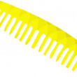 Stock Photo: Yellow Wide Comb and Hair