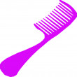 Stock Photo: Purple Comb